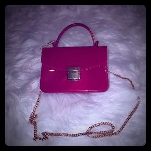 Pink magenta jelly purse